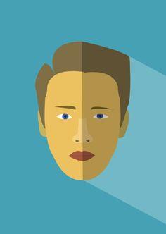 flat design illustration faces