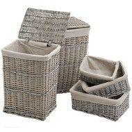 36-45 gbp soon 100 pcs  Set  2  Laundry  And  3  Storage  Baskets