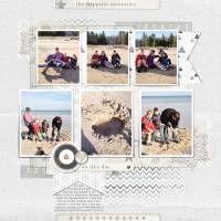 Winter Lake by Beckie, Designer Digitals,  travel digital scrapbooking layout, vacation digital scrapbooking  layout