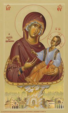 Madonna and Child Byzantine Icons, Byzantine Art, Religious Symbols, Religious Art, Early Christian, Christian Art, Orthodox Prayers, Roman Church, Symbolic Art