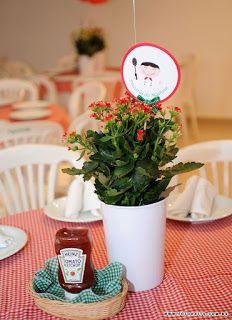 """Hoje posto para todas vcs uma festalinda, cheia de detalhescom o tema """"Pizzaria do Matheus"""". Desejamos ao pequeno Matheus muitas ..."""