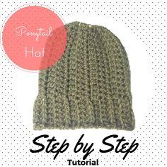 FREE PATTERN Ponytail Hat, step by step tutorial