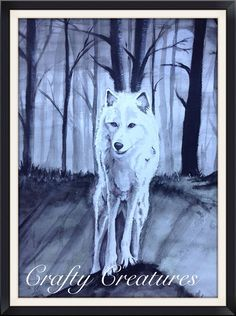 Wolf Art  watercolour painting  Game of by Mscraftycreatures