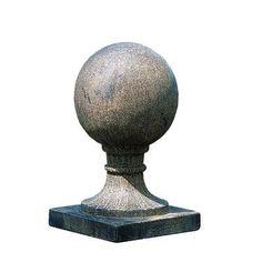 Campania International, Inc Small Sphere Square Base Finial Color: Aged Limestone