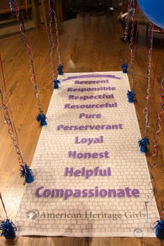 AHG Ceremonies: Cross over Bridge idea. Have a banner printed like a brick road with the Creed attributes on it.