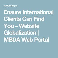 Ensure International Clients Can Find You – Website Globalization | MBDA Web Portal