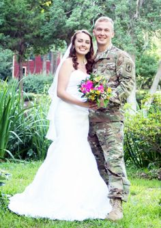 Spring is in the air.  This sweet army couple loved the arbor with the pond as a backdrop and the general store as well.  #spring #armystrong #army #bridal #wedding #venue #goodhopega #athensweddings #pink #yellow #freshflowers #bouquet #pond #generalstore #inlove #beautiful