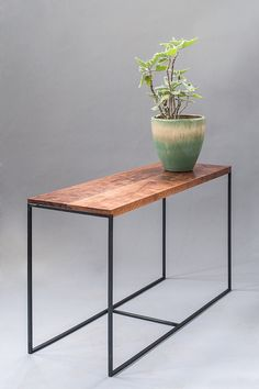 NATE side table / solid walnut and mild steel / made by logansbeck, $350.00