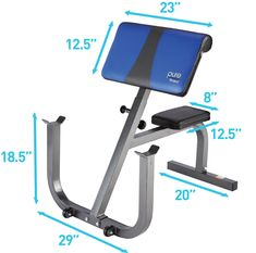 Pure Fitness Weight Training/Workout: Adjustable Seated Preacher Curl Bench Blue/Black *** Much more info could be found at the photo url. (This is an affiliate link). Abb Workouts, Gym Workout Tips, Weight Training Workouts, Street Workout, At Home Workouts, Home Made Gym, At Home Gym, Diy Gym Equipment, No Equipment Workout