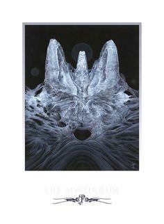 """""""L'Ile Mystérieuse"""".Reproduction Digigraphie de luxe en tirage limité, numéroté, estampillé et signé. Imprimée sur papier Hahnemühle Photo Rag, papier 308g. Format : 45 x 32,9cm. Pascal Ferry."""