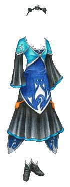 """""""Black, Blue and Aquamarine Merines Gown based on Tales of Legendia""""    [Liana's Paper Doll Blog]"""