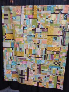 Modern Quilt Blocks, Modern Quilt Patterns, Scrappy Quilts, Quilting, Crumb Quilt, How To Finish A Quilt, Quilt Top, Charity, Sewing Crafts