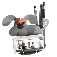 Dog Business Card Holder  Original Price: $35.20 Special Price: $31.33 #art #sculpture #gift #dog #pet #desk #penholder