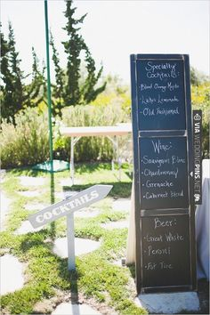 drink menu | VIA #WEDDINGPINS.NET