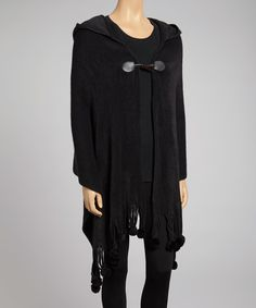 Black Hoodie Wrap on zulily