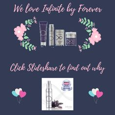 Impossible NOT to love Infinite by Forever Advanced Skincare! It was no surprise when Infinite Firming Serum won Silver at the recent Natural Beauty Awards. Use it for a month and if your skin doesn't look and feel the best it has ever looked and felt, you're covered by Forever's 60-Day Money-Back Guarantee. Click the Slideshare link for loads of Infinite info.