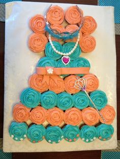 Baby Shower cup cake dress.