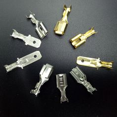 50PCS 6.3mm 6.3 Crimp Terminal Male Female Spade Connector Crimping terminals