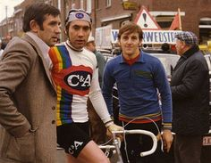 Eddy Merckx for C&A with Frans Verbeek, 1978.