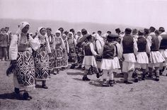 Kolo dance around the bagpiper Stunning Old Photos of Yugoslavia from the 1920s – Slavorum