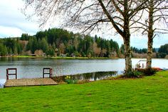 Lakefront view of a home I sold earlier this year. Gayle C. Rich-Boxman  REALTOR® Vernonia Realty www.lakehomesatfishhawk.com