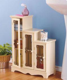 Bathroom Storage Cabinet Kitchen Pantry Media Console Curio Cabinet Side Table   #StorageCabinet #Modern