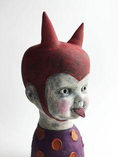 Cheeky Devil by Flora Art Studio Devil, Dinosaur Stuffed Animal, Flora, Studio, Artwork, Animals, Animais, Work Of Art, Animales