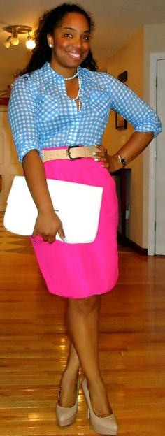 Style & Poise: Corporate Chic: Inspired-Pink Pencil Skirt Remix