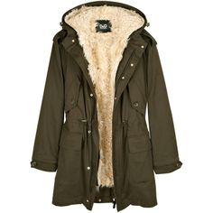 D&G Sheepskin Lined Parka (£695) ❤ liked on Polyvore featuring outerwear, coats, jackets, tops, women, hooded coat, parka coat, brown parka, hooded parka and hooded toggle coat