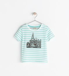 ZARA - SALE - STRIPED CITY T-SHIRT WITH SNAP BUTTONS