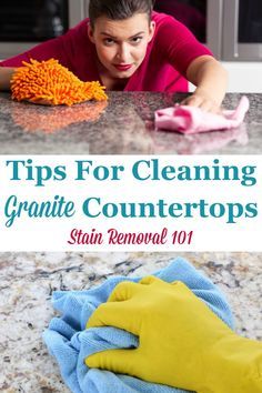 Here is a round up of tips for cleaning granite counter tops safely, to protect your investment, while also keeping them looking great on Stain Removal 101