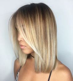 Blunt Caramel Blonde Bob For Straight Hair