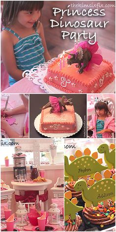 Princess Dinosaur Party.. How to mix girly princesses with dinosaurs