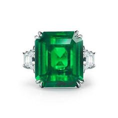 Natural  22.17CT Magnificent COLOMBIAN EMERALD AND DIAMOND PLATINUM RING/GIA/AGL