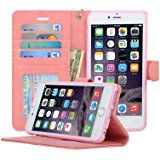 Amazon.com: Navor Protective Flip Wallet Case for iPhone 6/6S [4.7 inch] - Peach (IP6OPC): Cell Phones & Accessories