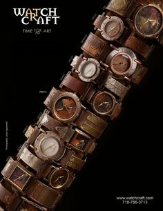 Art to wear. Watchcraft limited edition watches, hand made in NYC by artist Eduardo Milieris.
