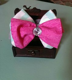 Check out this item in my Etsy shop https://www.etsy.com/listing/226717576/teal-and-whitehot-pink-bow-tie-with