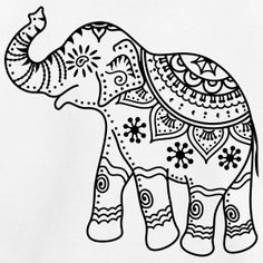 decorated indian elephant drawing - Google Search