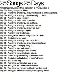Day 2 - You'll Never Know by Ariana Grande. I chose this song because he's too stupid to realize I liked him and now I'm over him and he finally figured it out.