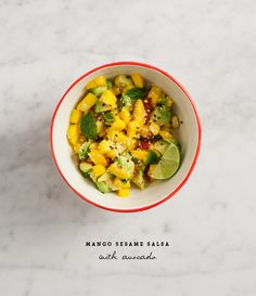 Mango sesame salsa with avocado / loveandlemons.com