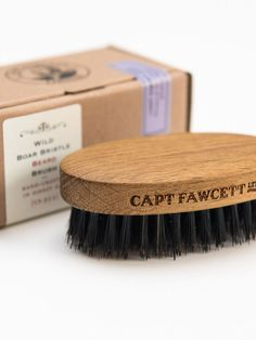 Wild Boar Bristle Beard Brush by Captain Fawcett Limited Badger Shaving Brush, Shaving Oil, Beard And Mustache Styles, Beard No Mustache, Beard Brush, Hair Brush, Boar Bristle Brush, Great Beards, After Shave Balm