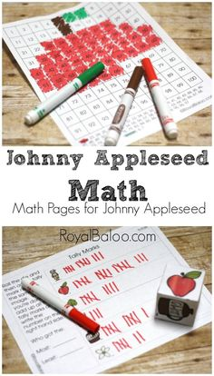 Free Johnny Appleseed Unit and Packs - Royal Baloo - Free Johnny Appleseed Math to go along with a Johnny Appleseed Unit (and… Source by mamainthenow First Grade Classroom, 1st Grade Math, Math Classroom, Kindergarten Math, Teaching Math, Teaching Ideas, Preschool Learning, Grade 1, Learning Activities