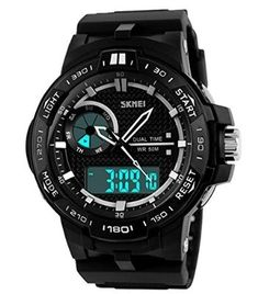 cool Multi Function Military S-shock Sports Watch LED Analog Digital Waterproof Alarm - For Sale