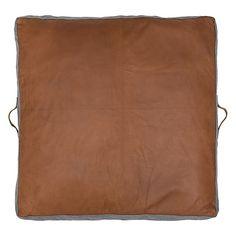 Amigos De Hoy Square Leather Floor Pad, Tan