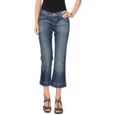 Paola Frani J Denim Capris ($115) ❤ liked on Polyvore featuring pants, capris, blue, zip pants, bootcut pants, cropped capri pants, zipper trousers and denim capris