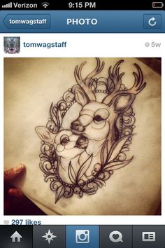 Dear Tattoo With Flowers Best Tattoo Ideas Gallery - Pretty Floral Tattoo Fox And Lizard Flowers Tattoo Sleeve Owl And Dear Chase Dotwork Tattoo By Hidden Moon Tattoo Circle Line Hummingbird Graphic Tattoo Naruto Cat Tattoo Sea Turtle Tattoo Moby Fawn Tattoo, Doe Tattoo, Tattoo Motive, Piercing Tattoo, Piercings, Tattoo Girls, Tattoo For Baby Girl, Tattoos For Kids, Baby Deer Tattoo