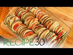 Tian Provencale – Easy Meals with Video Recipes by Chef Joel Mielle – Baked Vegetables, Veggies, French Dishes, Recipe 30, Just Cooking, Yummy Food, Delicious Recipes, Food Videos, Side Dishes