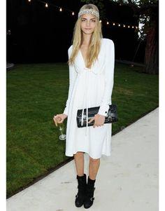 Cara Delevingne in June 27th, 2011. white dress.