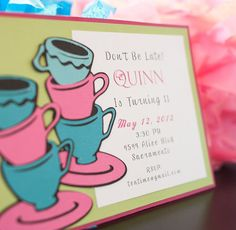 Alice in Wonderland Birthday Invitations by EmbellishedPaper, $2.50