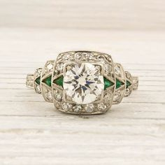 Dream ring! Antique 79 Carat Old European Cut Diamond by ErstwhileJewelry